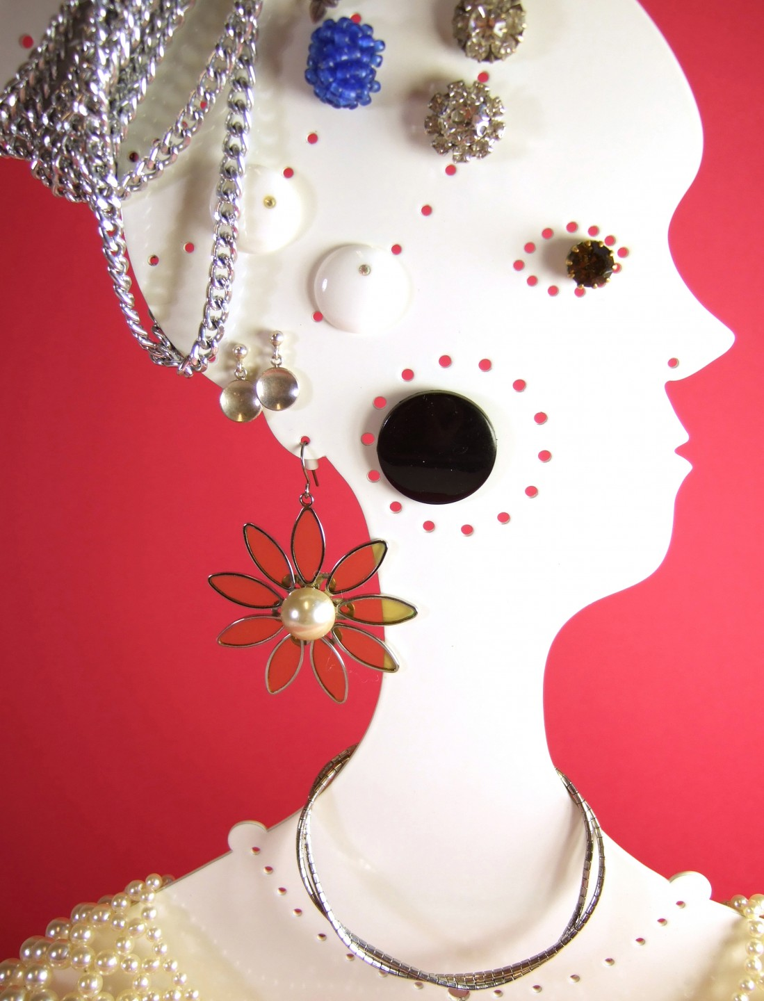 Jewellery doll - close up